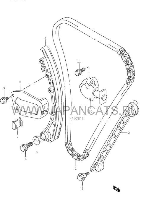 мануал по замене цепи на сузуки вагон k 10 a